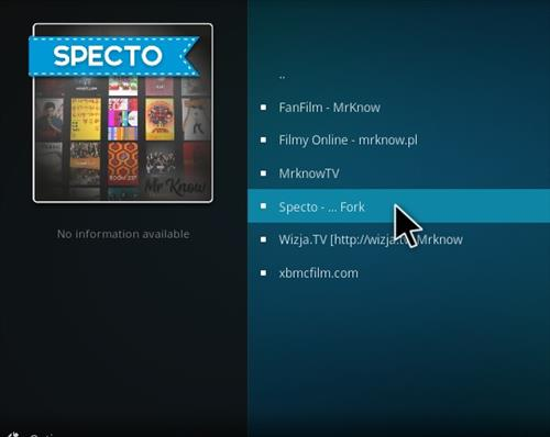 How To Install Specto Fork Add-on Kodi 17 Krypton 18